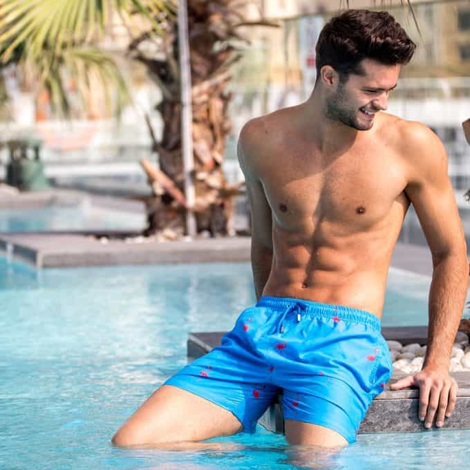 Flamingo swim shorts in Dubai