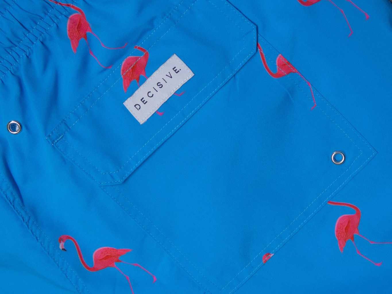 Back pocket Flamingo Swim shorts pocket