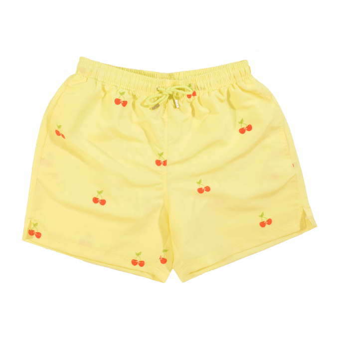 Cherry Swim Shorts Yellow