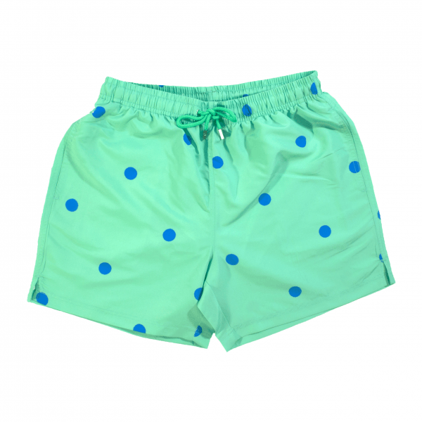Dots Swim Shorts Green
