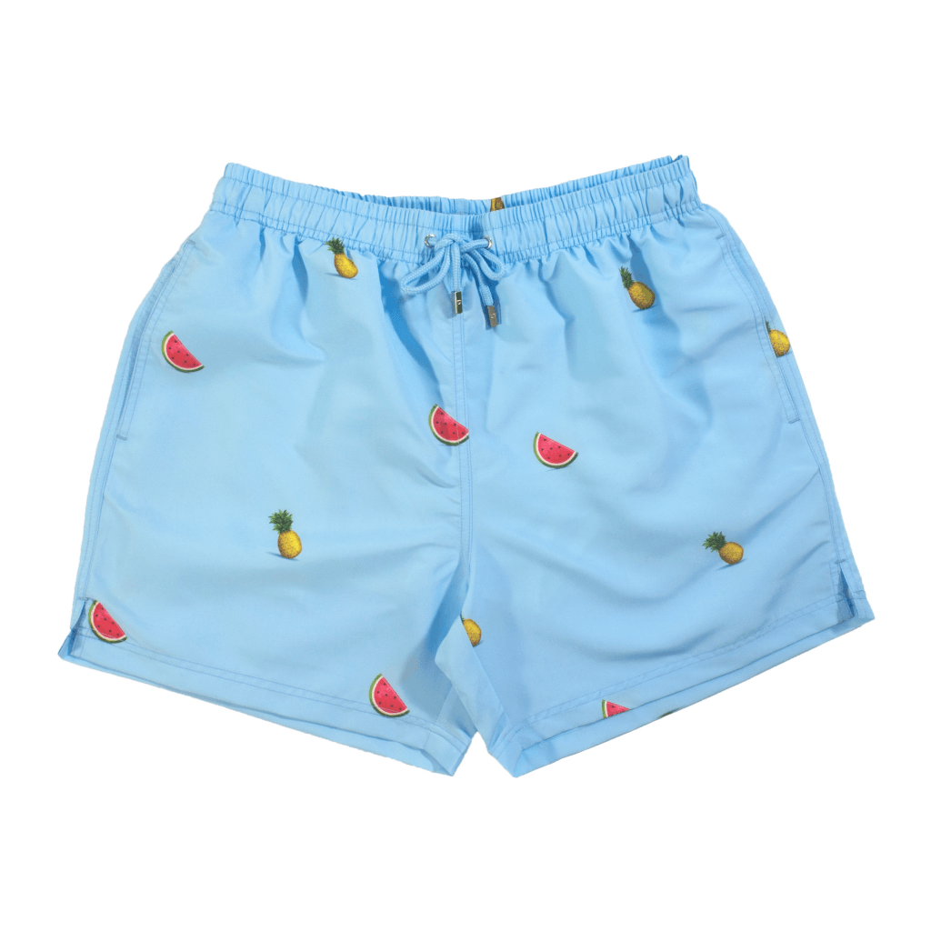 Pineapple Watermelon Swim Shorts Blue