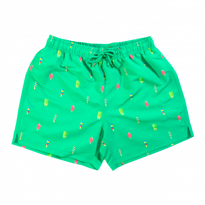 Popsicle Swim Shorts Green