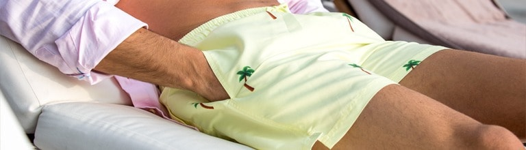 Palm Yellow Swim Shorts