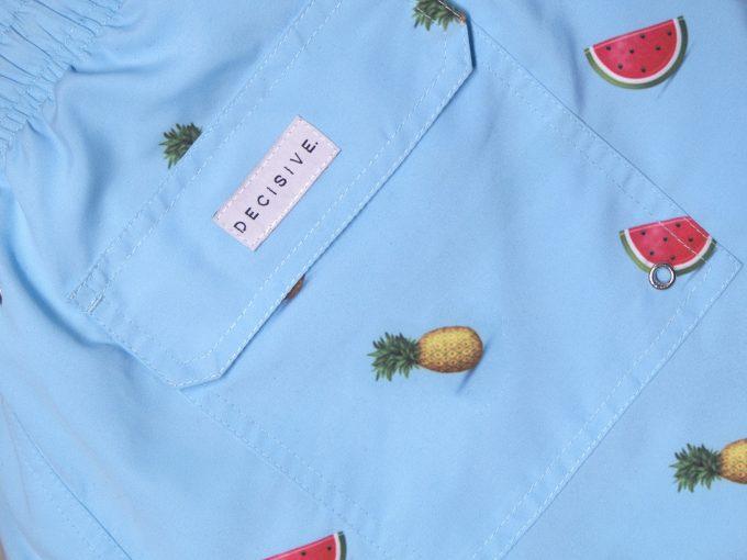 Mellon x Pineapple Blue Swim Shorts pocket