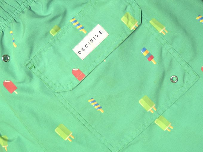 Popsicles Green Swim shorts pocket