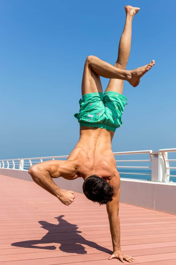 Handstand green popsicle swim shorts