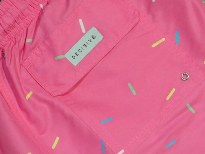 Sprinkles Pink Swim shorts pocket