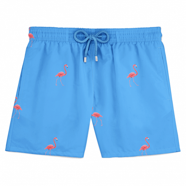 Flamingo Swim Shorts blue