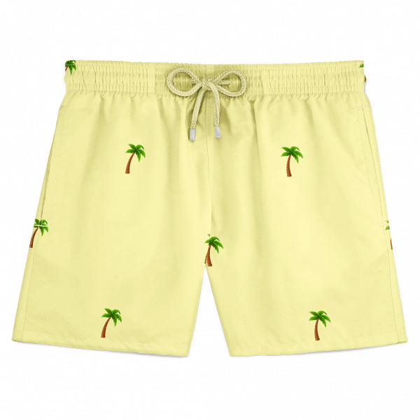 Palm Swim Shorts Yellow