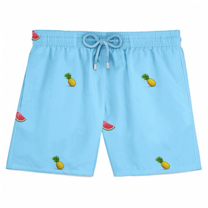 Pineapple Watermelon Swim Shorts Blue