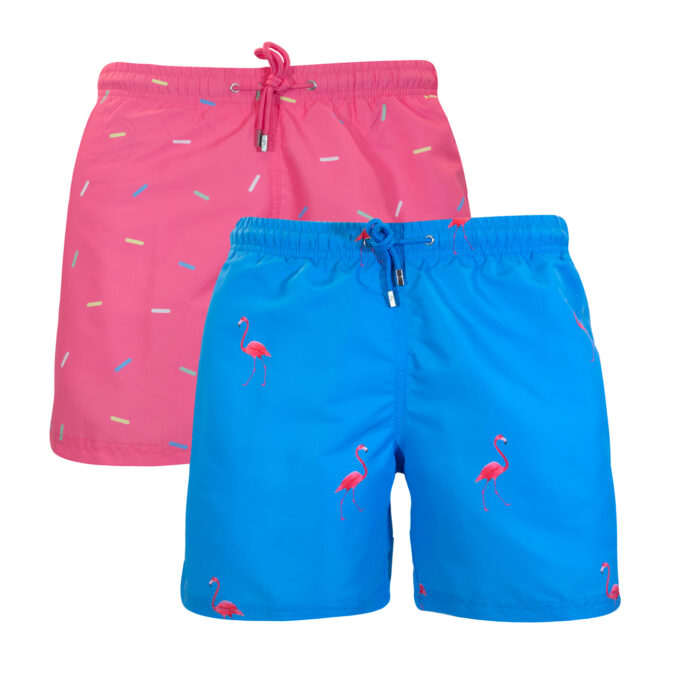 Ibiza Flamingo Sprinkles Swim shorts