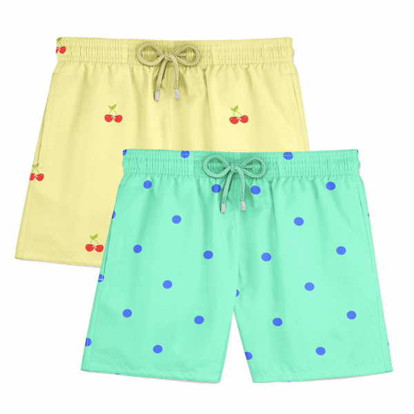 Cherry Dots Swim Shorts