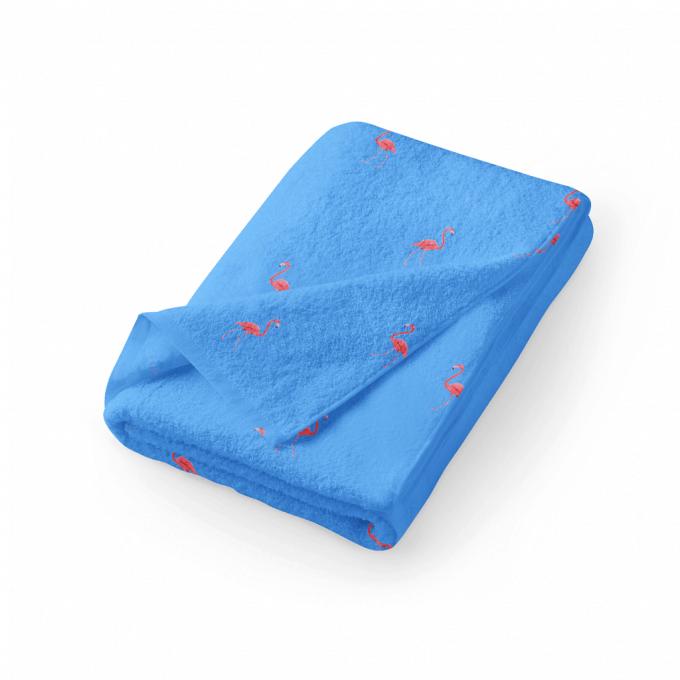 Ibiza blue flamingo towel