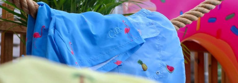 Personalized swim shorts from decisive beachwear