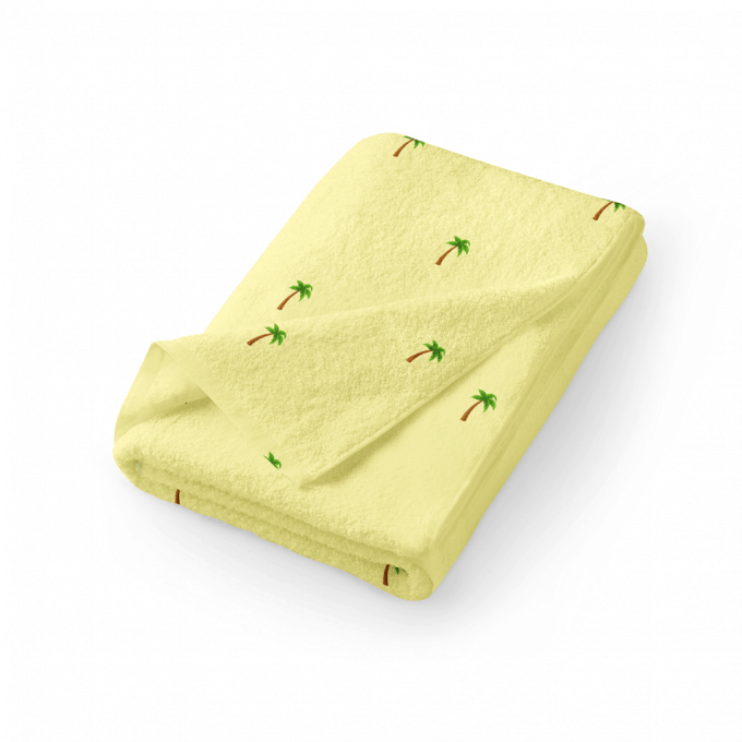 Tropical palm towel