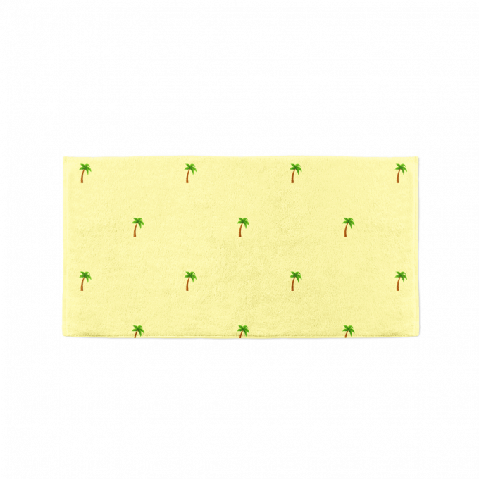 Tropical palm towel flat