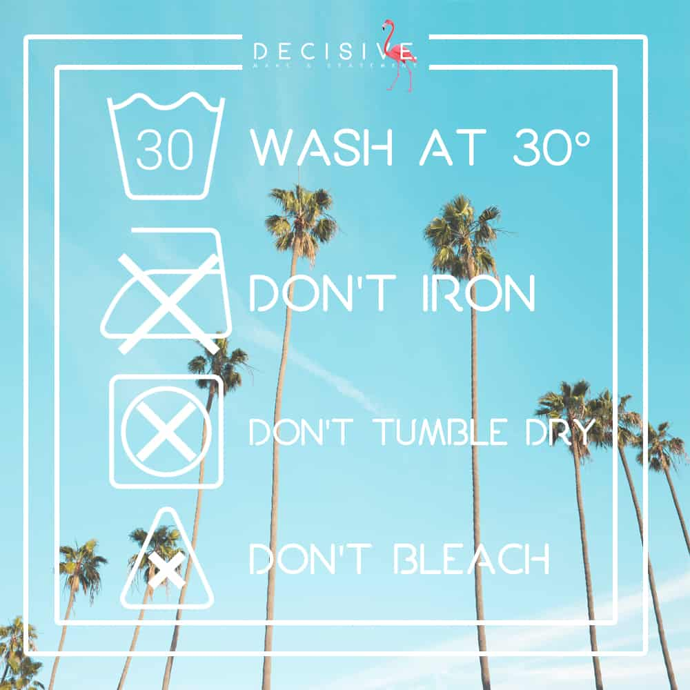 how to wash swimwear care label