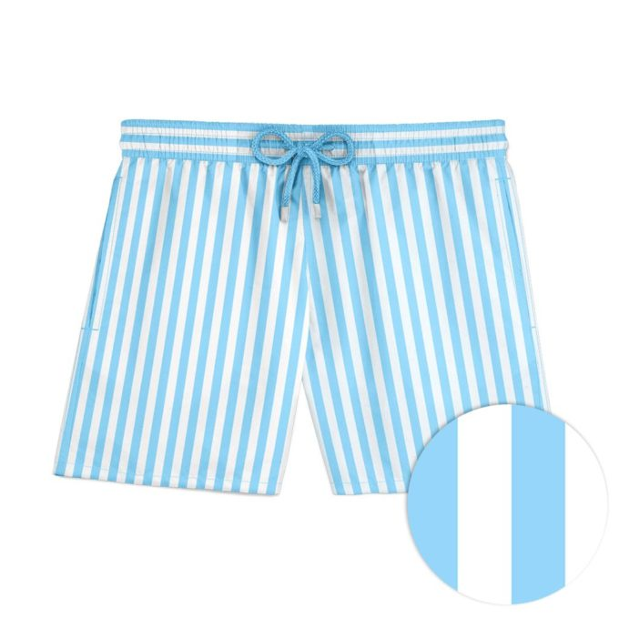 Blue Stripe Swim Shorts