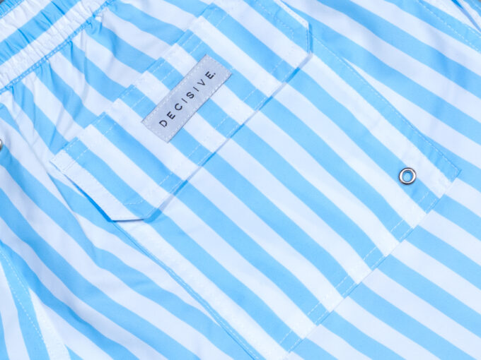 Blue stripe pocket