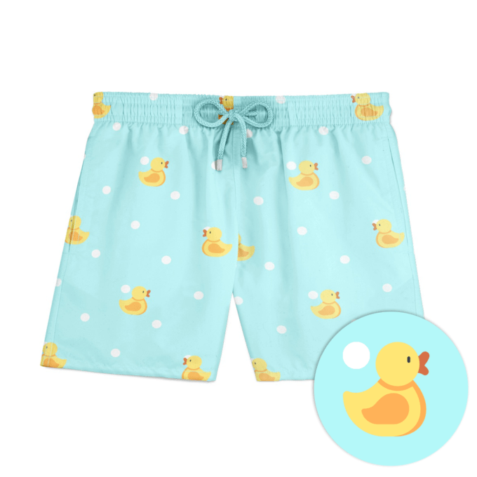 Mint Ducks Swim Shorts