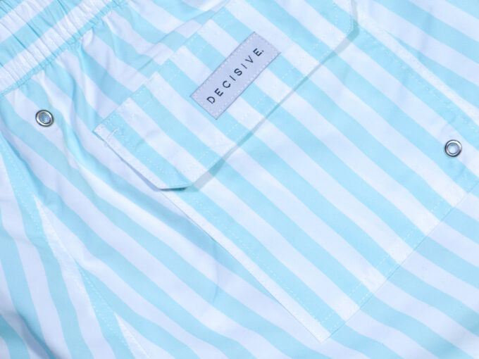 Mint stripe pocket