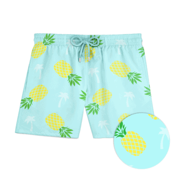 Pineapple Pattern Tropical Summer Fruit Shorts Swim for Kid Quick Dry Solid Board Core Swim Volley Tropical