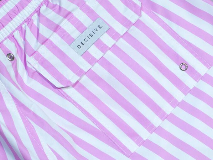 Pink stripe pocket