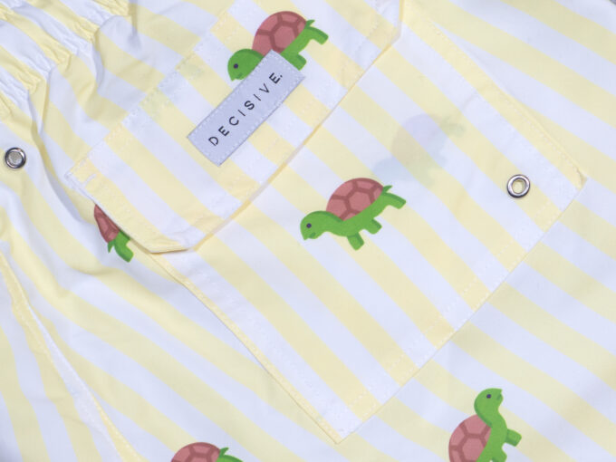 Striped turtle pocket