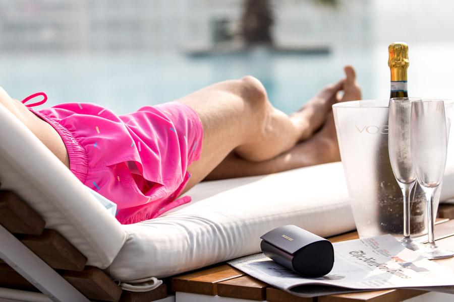 Champange swim shorts pink