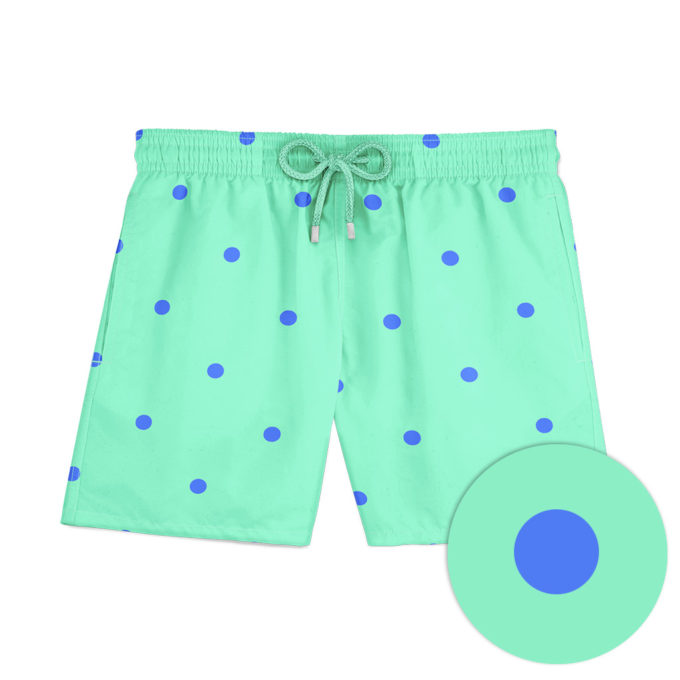 Green dots swim shorts