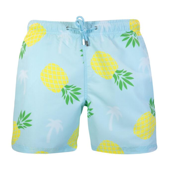 Pineapple Palm Swim Shorts Mint