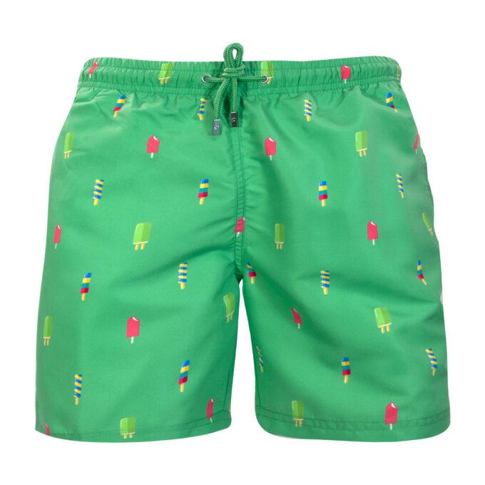 Green popsicle swim shorts