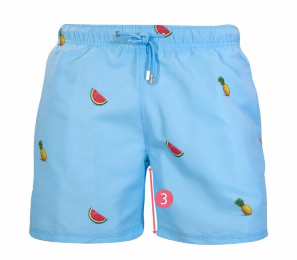 How to measure inseam swim shorts
