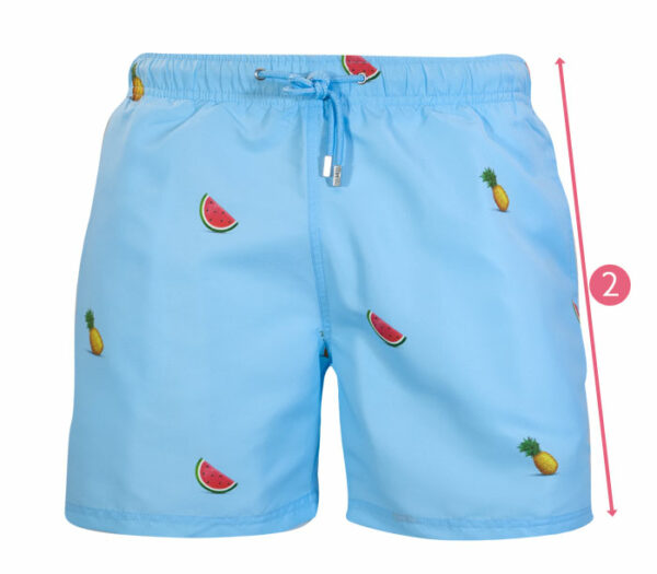 How to measure outseam swim shorts