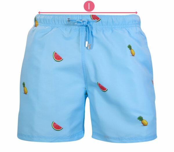 How to measure waist swim shorts