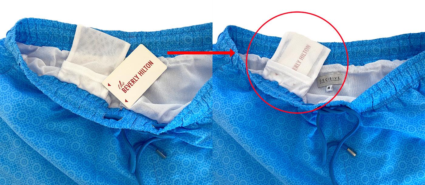 Pocket inside swim shorts